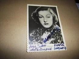 CARTE PHOTO GABY MORLAY AVEC 2 Autographes De L'artiste Sur La Photo, Rarissime ! - Autographes