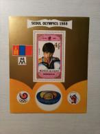 MONGOLIE - FEUILLET - J.O. SEOUL 1988. - Ete 1988: Séoul