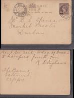 NATAL 1/2d Card, Used Locally, 1894, ESTCOURT > DURBAN - Afrique Du Sud (...-1961)