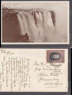 Main Victoria Falls, Used 1942, Rhodes 1 1/2d, VICTORIA FALLS  S. RHODESIA 25 AUG 1942, C.d.s. - Zimbabwe
