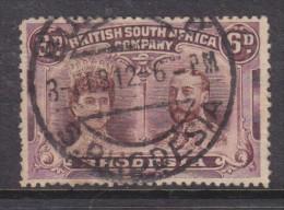 RHODESIA BSACo, 1910 6d Brown & Purple, Perf 14, Used - Southern Rhodesia (...-1964)