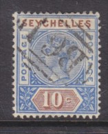 Seychelles, Queen Victoria, 1890, 10 Cents, Die I, Good Used. - Seychelles (...-1976)