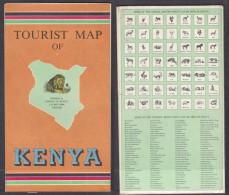 Tourist Map Of Kenya, Survey Of Kenya, 1971 - Maps