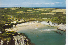BELLE  ILE En MER -  LOCMARIA - Plage De Port En Dro (Gb3-580) Vue Aérienne Intéressante - Belle Ile En Mer