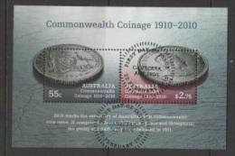 AUSTRALIEN 2010  100 JAHRE COMMONWEALTH MUNZEN Mi BLOCK 97 GESTEMPELT - Usati