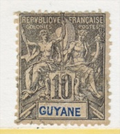 FRENCH GUIANA  37  (o) - French Guiana (1886-1949)