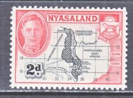 NYASALAND    71    *  MAP - Nyasaland (1907-1953)