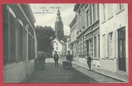 Leuze-en-Hainaut -Rue Basse Et Rue Charles Du Vivier - Belle Animation - 1908 ( Voir Verso ) - Leuze-en-Hainaut