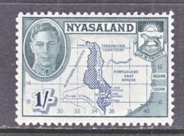 NYASALAND    76    *   MAP - Nyasaland (1907-1953)