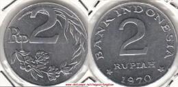 Indonesia 2 Rupiah 1970 Km#21 - used