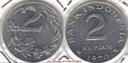 Indonesia 2 Rupiah 1970 Km#21 - Used - Indonesia