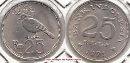 Indonesia 25 Rupiah 1971 Km#34 - Used - Indonésie
