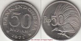 Indonesia 50 Rupiah 1971 Km#35 - Used - Indonesia