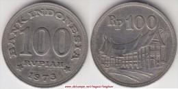 Indonesia 100 Rupiah 1973 Km#36 - used