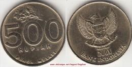 Indonesia 500 Rupiah 2001 Km#59 - used