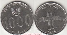 Indonesia 1000 Rupiah 2010 Km#70 - Used - Indonesia