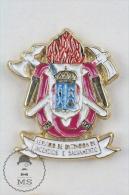 Spanish Fireman/ Firefighter Pin Badge #PLS - Bomberos