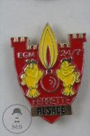 Ferrette Alsace France Sapeurs Pompiers - Pin Badge #PLS - Bomberos