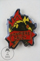 France Sapeurs Pompiers Cruzy Fireman/ Firefighter - Pin Badge #PLS - Bomberos