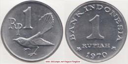Indonesia 1 Rupiah 1970 Km#20 - Used - Indonesia