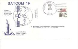 Espace -Satellites - SATCOM 1R ( Commémoratif Des USA De 1983 à Voir) - FDC & Commemoratives