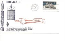Espace -Satellites -Intelsat 4 ( Commémoratif Des USA De 1971 à Voir) - United States