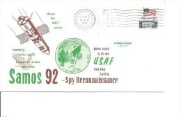 Espace -Satellites -Samos 92 ( Commémoratif Des USA De 1973 à Voir) - FDC & Commemoratives