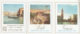 Dépliant Publicitaire 1953  ITALIE - VENISE - Publicités