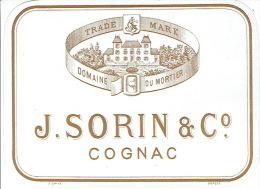 Lot De 37 étiquettes De COGNAC J. SORIN & C° - Domaine Du Mortier - Labels