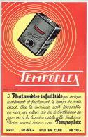 """Affichette Le Photomètre Infaillible """"TEMPOPLEX"""" - Appareils Photo"""