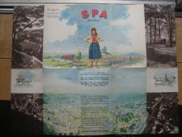 Dépliant Touristique  Ville De SPA Illustré Par Ivan DETHIER - Dépliants Touristiques