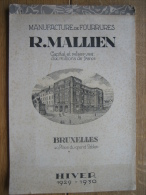 8 planches MANUFACTURE de FOURRURES  R. MAILLIEN BRUXELLES HIVER 1929-1930