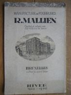 8 Planches MANUFACTURE De FOURRURES  R. MAILLIEN BRUXELLES HIVER 1929-1930 - Habits & Linge D'époque