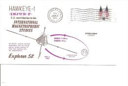 Espace -Satellites - Hawkeye-1 ( Commémoratif Des USA De 1974 à Voir) - FDC & Gelegenheidsboekjes