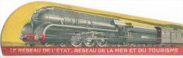 Marque-pages LES CHEMINS DE FER DE L´ETAT - RESEAU DE LA MER ET DU TOURISME - Illustré Par HILDEN - Locomotive - Marque-Pages