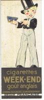 Marque-pages Publicité Pour Les Cigarettes Celtique Et WEEK-END Illustrées Par RENE VINCENT - Marque-Pages