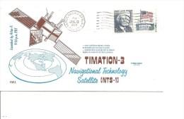 Espace -Satellites - Timation 3 ( Commémoratif Des USA De 1974 à Voir) - FDC & Commemoratives