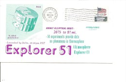 Espace -Satellites -Explorer 51 ( Commémoratif Des USA De 1973 à Voir) - FDC & Commemoratives