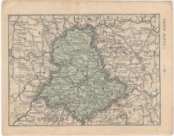 """Cartes Départements : Vienne & Haute-Vienne - Extraites Du """"Petit Atlas Départemental De La France"""" - Hachette, 1879 - Landkarten"""