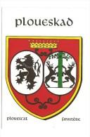 PRIX En BAISSE - VENTE DIRECTE: CARTE POSTALE HERALDIQUE - Blason PLOUESKAD - Plouescat