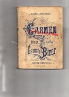 OPERA EN 4 ACTES - CARMEN DE GEORGES BIZET- THEATRE OPERA COMIQUE- PARTITION CHANT ET PAROLES - Music