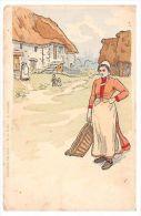 Collection Des Cent - L. Borgex - Peasant Woman, Basket - Old Artistic Postcard - Sin Clasificación