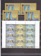Stamps EGYPT 2015 NEW SUEZ CANAL PROJECT OFFICIAL ISSUE MNH 4 S/S & BLOCK OF 4 - Nuovi