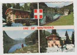 """CPSM MONTRIOND (Haute Savoie) - Le Lac 1065 M : Hôtel Restaurant """"Les Sapins"""" 4 Vues - Andere Gemeenten"""