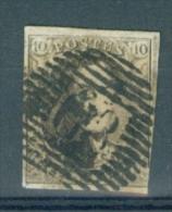 BELGIE - OBP Nr 6A - Medaillons - Lijnstempel 63 (ISEGHEM) - NIPA + 450 BF - 1851-1857 Médaillons (6/8)