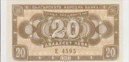 Bulgaria 20 Leva 1950 Pick 79 UNC - Bulgarie