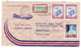 Guatemala Flugpost Brief 15.7.1950 Nach Winterthur - Guatemala