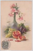 Catharina Klein - Fleurs Roses Dans Vase - Raisin - Figue - Recto Verso - Klein, Catharina