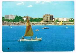 H3027 Riccione (Rimini) - Panorama Della Spiaggia Dal Mare - Barche Boats Bateaux / Viaggiata 1962 - Italia