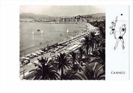 06 - CANNES - PLAGE CROISETTE Suquet - Dessin Joueurs  Jeux Volley-ball - Flamme LION'S CLUB 1958 Cannes - Volleyball